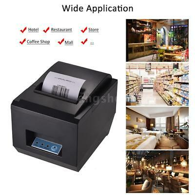 80mm BT Thermal Receipt Printer Auto Cutter ESC/POS Print F/ iOS Android Windows