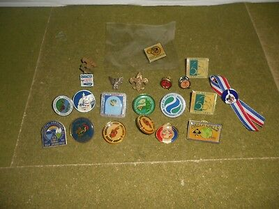 Boy Scout Pin Assortment - (21 Pins Total) - New and Used