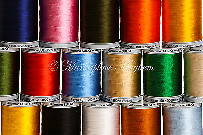Gutermann 1000M - Embroidery Sulky Thread - Sewing - Viscose - Range Of Colours!