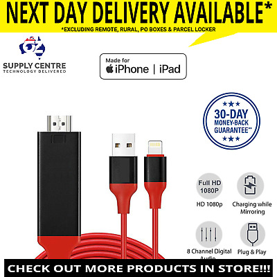 Lightning To LED LCD TV HDMI MHL Cable Video Output iPad iPhone XS MAX XR IOS12