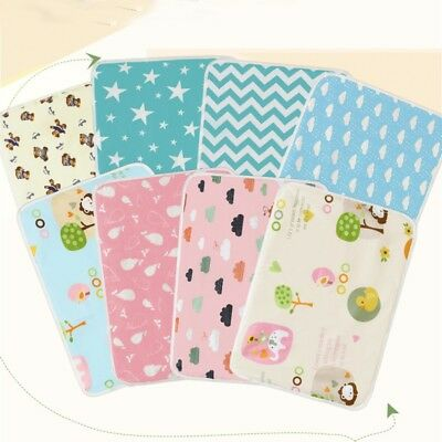 Newborn Baby Changing Mat Pad Infant Cotton Nappy Cover Waterproof Urine Mat AU