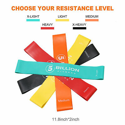 Set of 3 Resistance Loop Bands Exercise home gym fitness Premium Natural Latex