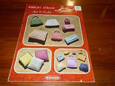 Myart Ribbon Straw - Knit & Crochet - Book 8 - Lots Of Bag Patterns