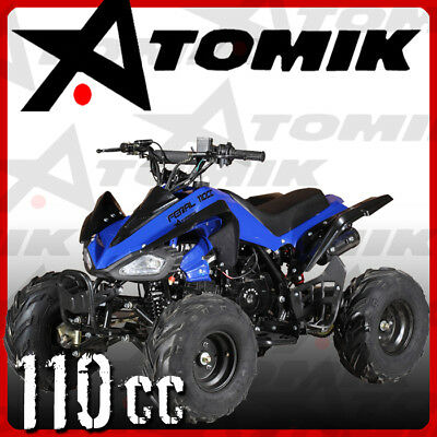 New Atomik Feral 110Cc Atv Quad Dirt Bike 4 Wheeler Mx Motorcross Terrain Kids