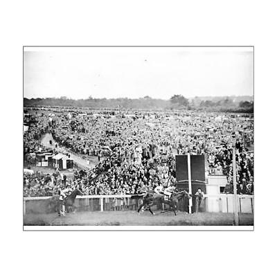 "13099543 10""x8"" (25x20cm) Print of Horse Racing - Epsom Derby - 1950"
