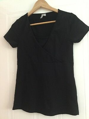 ASOS Maternity Nursing Black T Shirt Top - Size 8