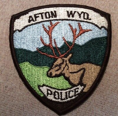 WY Vintage Afton Wyoming Police Patch