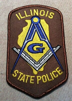 IL Illinois State Police Masonic Patch