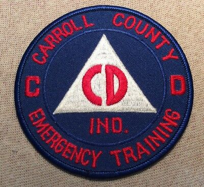 IN Carroll County Indiana Civil Defense Emergency Training Patch