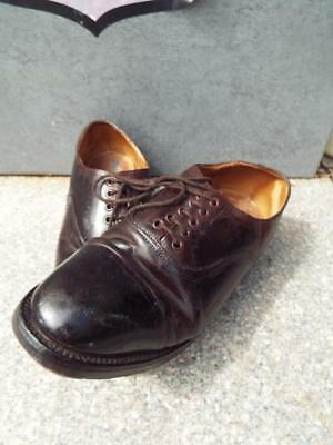 British Army officers 1940s Oxford Brown leather Military Parade Shoes size 10