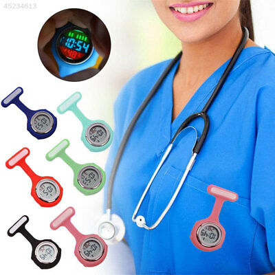 Colorful Multi-function Digital Silicone Rubber Nurse Watch Fob Pocket Watch New