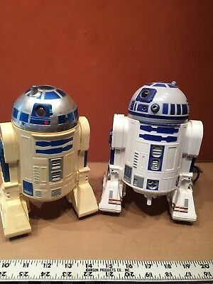 Two Battery Operated Star Wars R2-D2 Toys One With Controller Both Untested