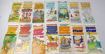 Vintage Australia Post Junior Stamp Preview and Stamp Explorer flyers + booklets