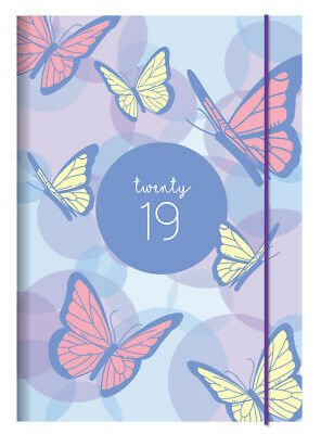 Diary 2019 Debden Papillon A5 Week to View Blue P5702 21x15cm NEW