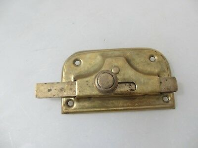 Vintage Brass Door Lock Bathroom WC Toilet Old Antique Bolt Bronze