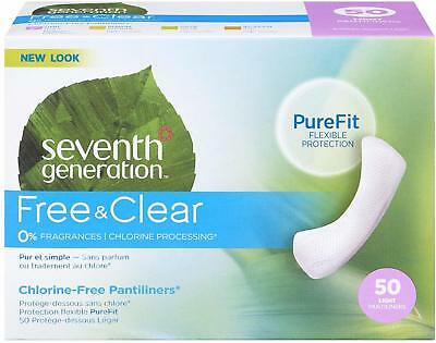 Chlorine Free Pantiliners, Seventh Generation, 50 count