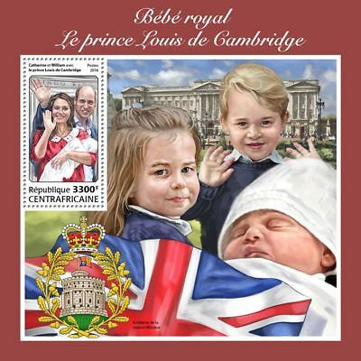 CENTRALAFRICA 2018 MNH ** Royal Baby Prince Louis of Cambridge S/S #214b B