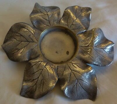 Antique Wmf Germany Silverplated Flower / Leaves Shape Coaster