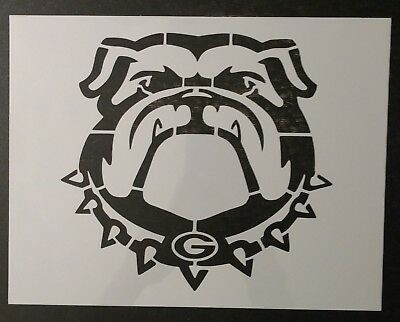 "Bulldog Bull Dog Georgia Bulldogs 11"" x 8.5"" Custom Stencil FAST FREE SHIPPING"