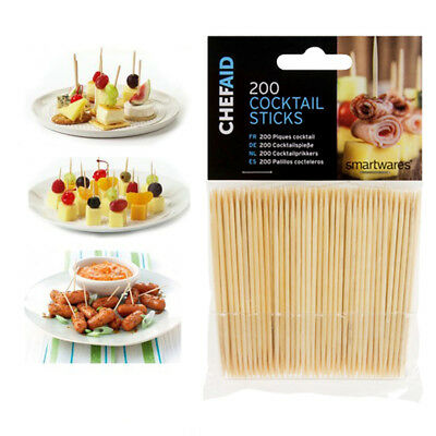 ChefAid Cocktail Sticks Pk 200 For Homes and Professional Catering Use 8cm Long