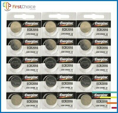Lot of 15 PC ENERGIZER CR2016 WATCH BATTERIES 3V LITHIUM CR2016 Coin Exp.2028