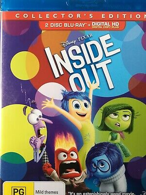 INSIDE OUT - Collectors Edition 2 x Disc BLURAY Set 2015 Disney Pixar AS NEW!