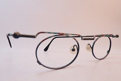 Vintage 90s eyeglasses frames oval size 44-21 hand painted made in Germany