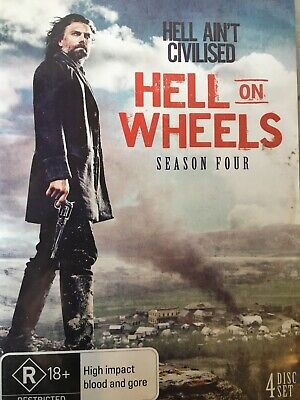 HELL ON WHEELS - Season 4 4 x DVD Set Exc Cond! Complete Fourth Series Four