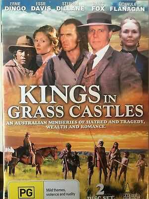 KINGS IN GRASS CASTLES - Complete Mini Series 2 x DVD Set Excellent Condition!