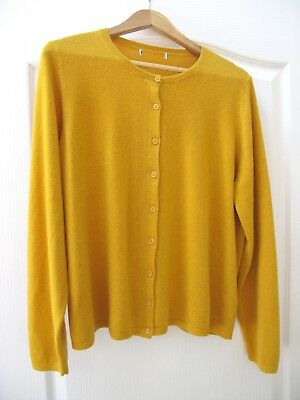 Marks and Spencer Cardigan Antique Brass Size 18 Mustard 40s Land Girl Style