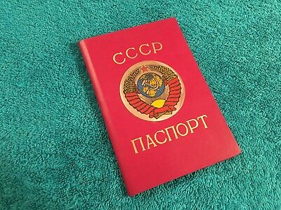 Vintage Soviet Russian Passport Cover Holder USSR CCCP