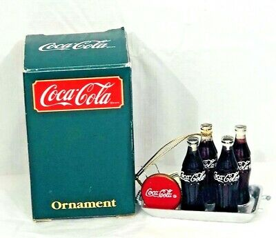 Coca Cola Willits Ornament #38002 Coke Bottles on a Tray From 1991 Vintage