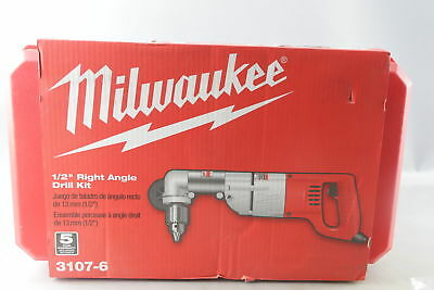 Milwaukee 7 Amp 1/2 in. Corded Heavy Right-Angle Drill Kit W/ Tool Case 3107-6