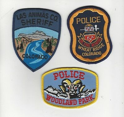 Set of 3 Colorful Police Patches