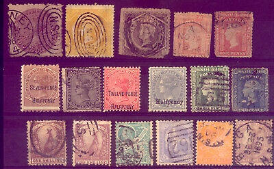 NEW SOUTH WALES:  A BEAUTIFUL  SET of OLD  STAMPS     NO  RESERVE