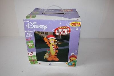Gemmy Disney 4' Lighted Air Blown Inflatable TIGGER Christmas Decor BRAND NEW