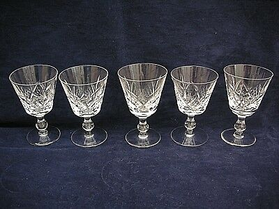5 x Stuart Crystal 'GLENGARRY ' wine Glasses 4.5""