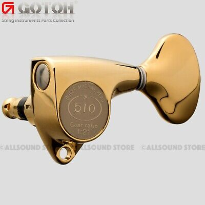 GOTOH SGV510Z-L5 L3+R3 Guitar Tuners Tuning Keys, 1:21 Ratio, 3x3 - GOLD