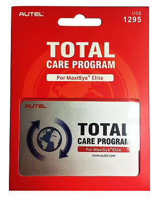 Autel 1 Year Total Care Program Card for MaxiSYS Elite (MS908 Elite) MSELITE-1TR