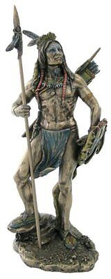 """Sioux Indian Warrior Statue Sculpture Figurine - 7.25"""" Tall *GREAT HOLIDAY GIFT"""