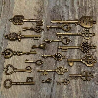 Door Vintage Old Knobs Antique Assorted Knob Hardware Locks 19 pcs Glass Pulls H