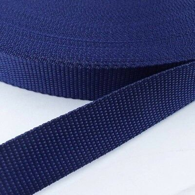 "5 yds Navy Polypropylene Webbing for Purse craft, Dog collars and more, 1.5"" w"