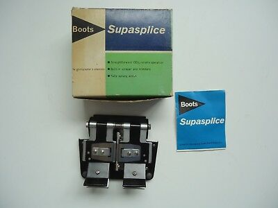 BOOTS SUPASPLICE VINTAGE CINE MOVIE FILM STANDARD 8mm SUPER 8mm AND 16mm SPLICER