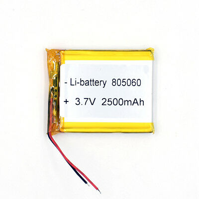 3.7 V 2500mAh 805060 Li-Polymer Rechargeable Battery Liion LiPo Cell for PAD PDA