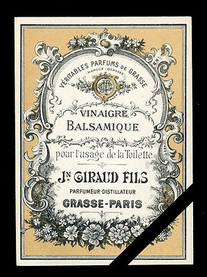 Original Antique French Perfume label: Vintage J. Giraud Fils Early 1900's