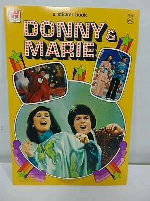 Donny and Marie Readers Sticker Book NEVER TOUCHED! GREAT Condition!!
