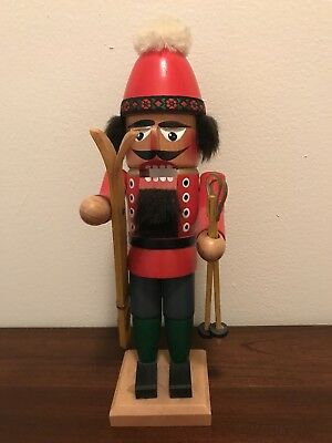 Steinbach nutcracker Alpine Skier 11.5in Made in Germany. Used. good condition