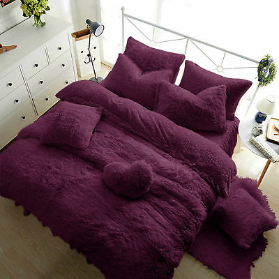 Teddy Fleece Luxury Duvet Covers Cosy Warm Soft Bedding Sets / Fitted Sheets GC