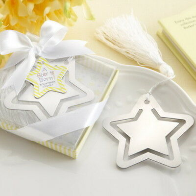 1PC Stainless Steel Star Personalised Bookmark Silver Tone Present Gift