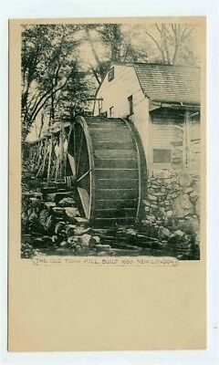 Old Town Mill Built 1630 Undivided Back Postcard New London Connecticut